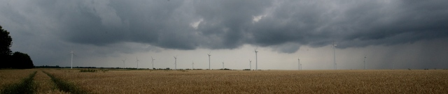 Windparks on the road from Berlin to Wendland