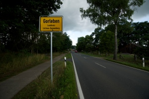 Arriving in Gorleben, from Vietze.